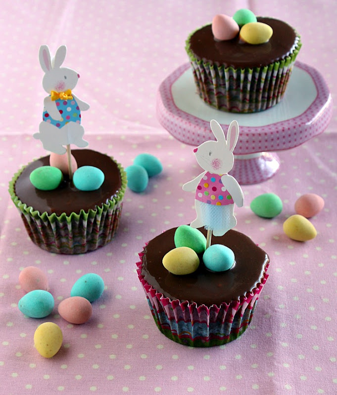 Vanilla Clouds and Lemon Drops Easter Cupcakes Double Chocolate