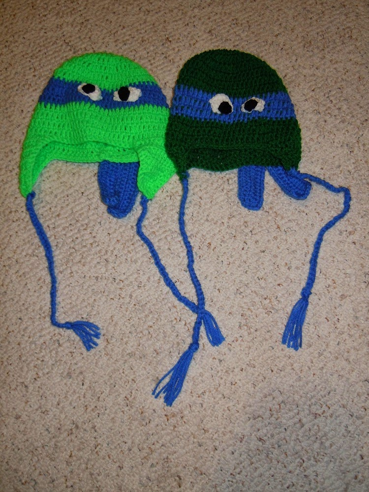Free Crochet Pattern Turtle Hat : Craftdrawer Crafts: Free Crochet Teenage Mutants Ninja ...