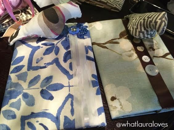 3D Birds and Book Binding using Hillarys new fabric