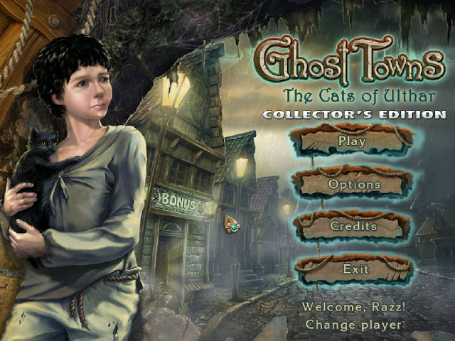 Main Menu of the Ghost Towns: The Cats Of Ulthar Collector's Edition