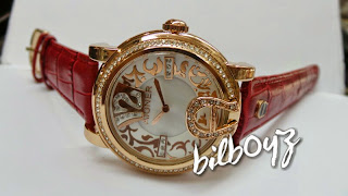aigner dona batik leather red