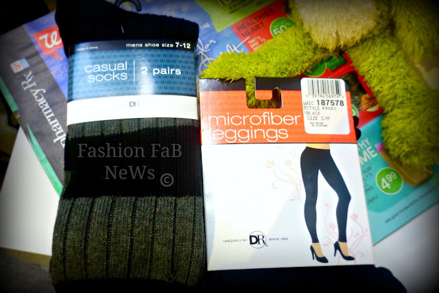 Duane Reade leggings and socks