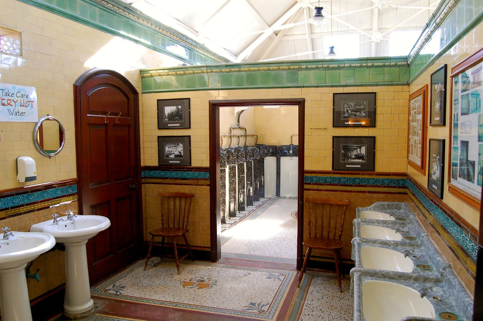 Entry to the Victorian toilets