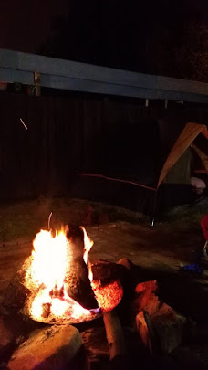 Campfire during Sukkot