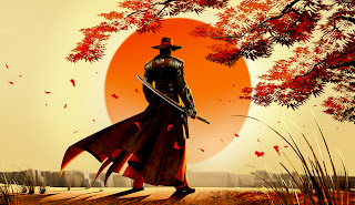 Red Steel 2 Cowboy with Samurai Sward HD Wallpaper