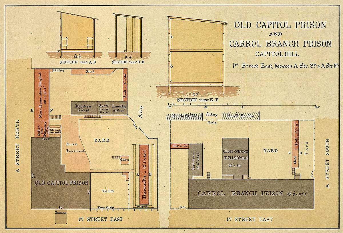 old brick capitol and the old capitol prison virtual