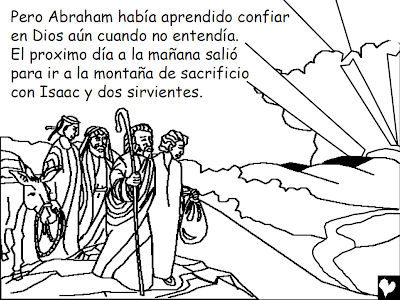HISTORIAS BÍBLICAS PARA COLOREAR: Dios Prueba el Amor de Abraham ...