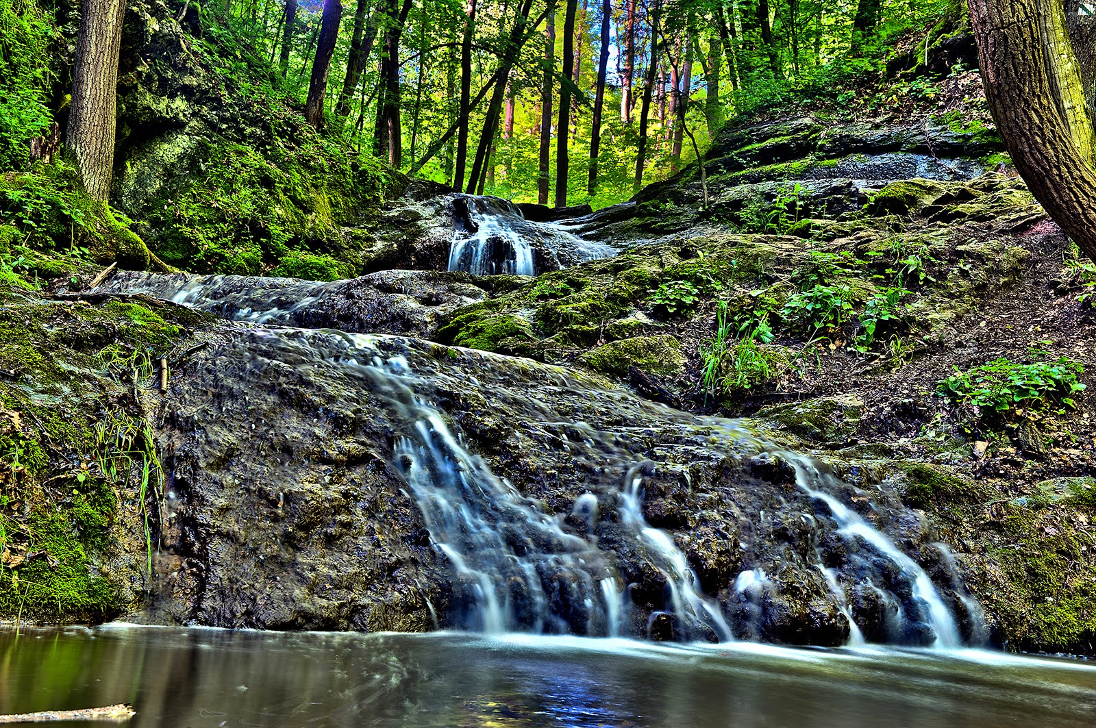 Karstejn, Czech Republic, waterfalls, vodopady