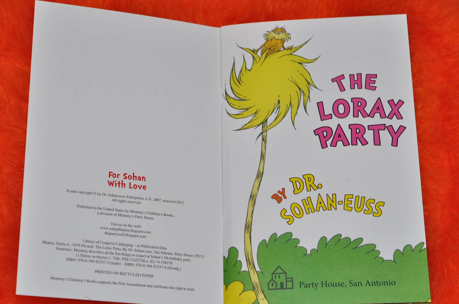 the party wall lorax party lorax book invitations