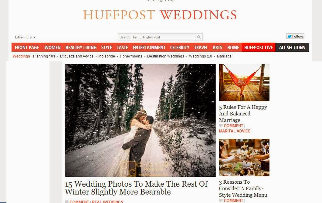 Winter wedding feature