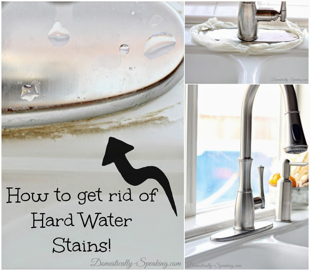 Easy Way to Remove Hard Water Stains