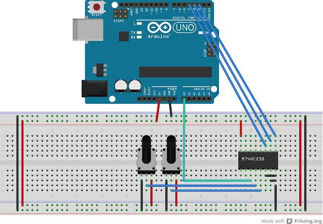 Simultanously Reading Two Analog Inputs with Arduino