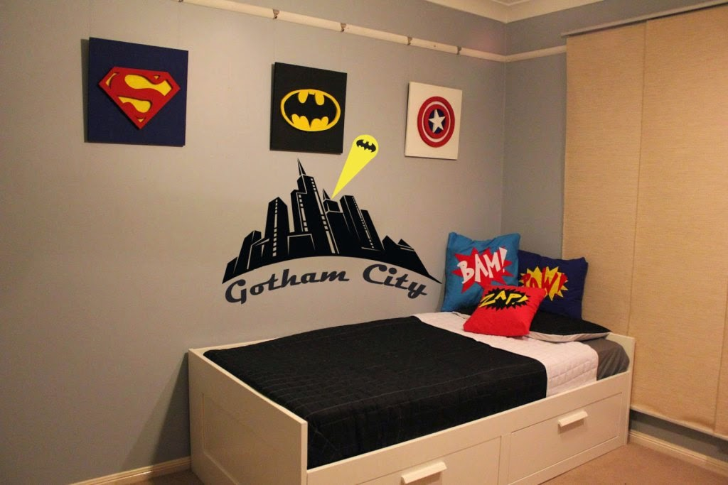 Themed kids bedroom design superhero nunudesign for City themed bedroom ideas