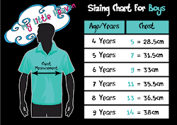 BOY T-SHIRT SIZING CHART