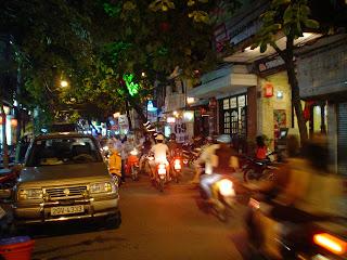 Motorbikes in Hanoi (Vietnam)