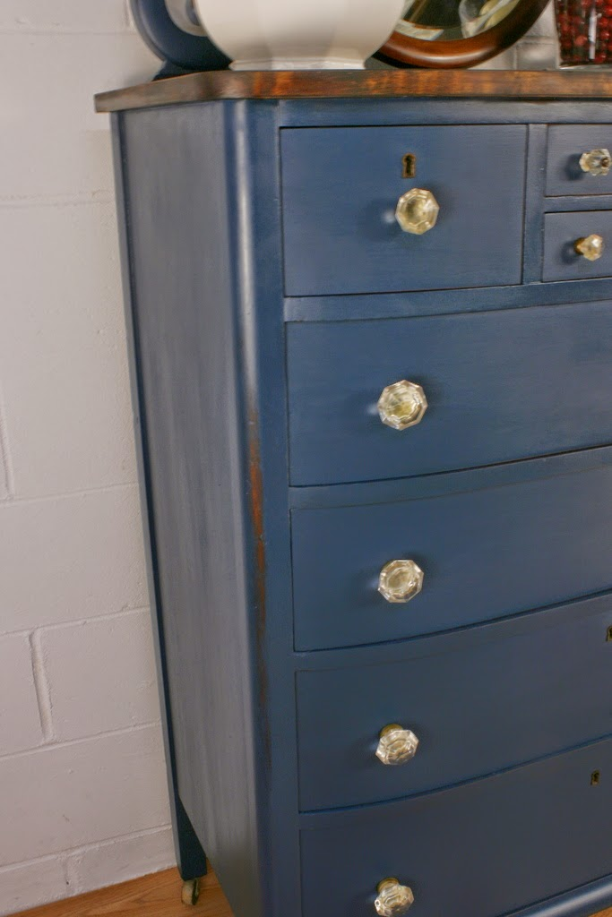 roots and wings furniture blog no 105 antique navy blue chest of drawers. Black Bedroom Furniture Sets. Home Design Ideas