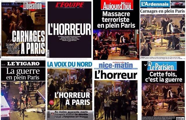 Ataques em Paris é uma marca negra do ISIS na Europa!