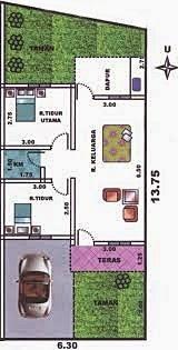 desain rumah type 36 luas tanah 60