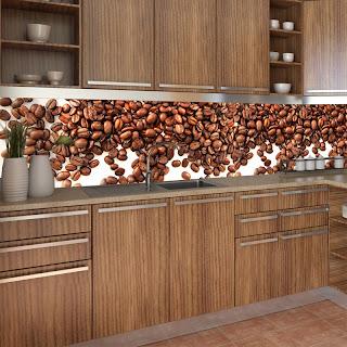 Fototapeta w kuchni z ziarenkami kawy.