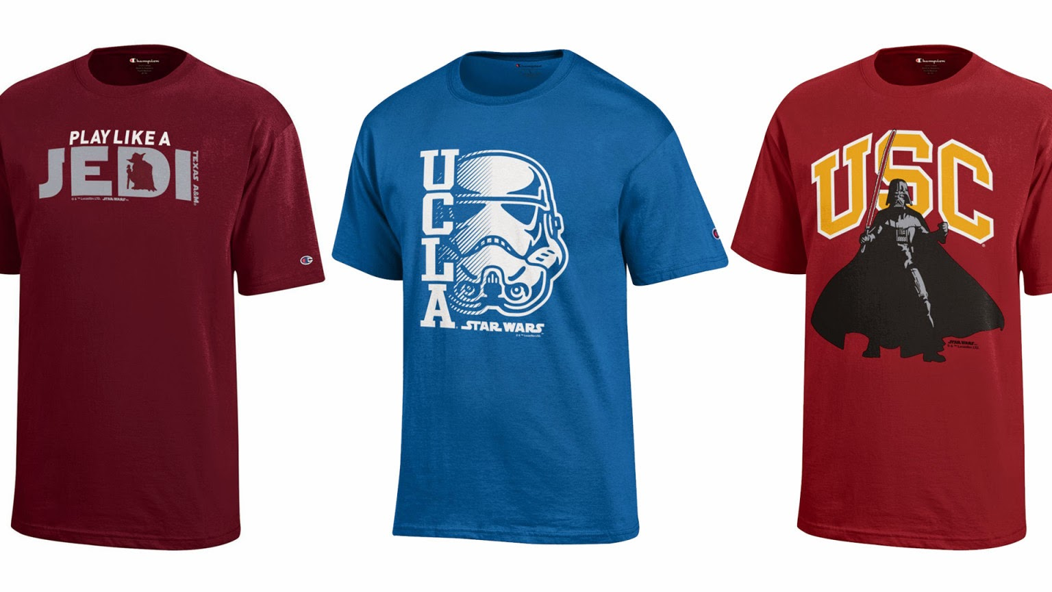 Star Wars enters the galaxy of college sports apparel.