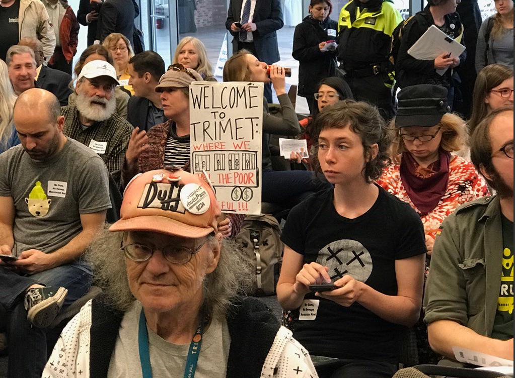 Trimet activists speak to the Board of Sock puppets