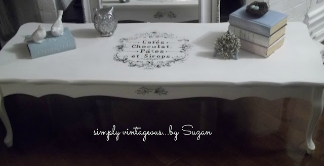 coffee table, makeover, before, after, shabby chic, gel transfer