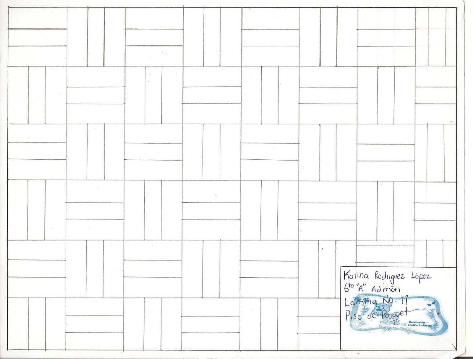 Clase de dibujo tecnico krl lamina no 11 piso de parquet - Laminas de parquet ...