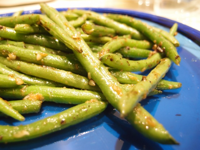 Blistered Green Beans with Miso Garlic Butter