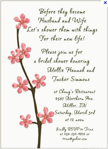Marriage Bridal Shower Invitation Wording Ideas Funny Doblelol