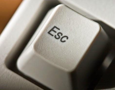 Esc, tecla, teclado,sair