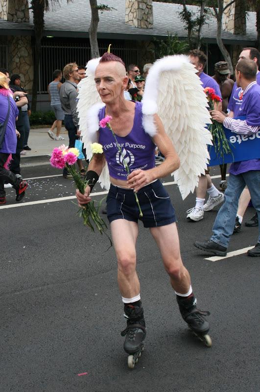 Rollerskating angel WEHO Pride Parade