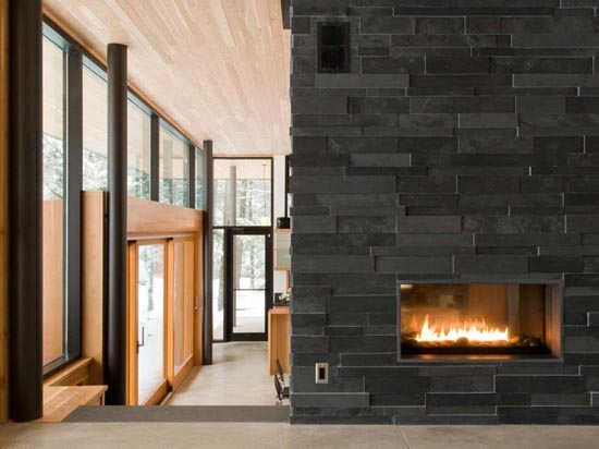 Trend Homes Modern Wall Fireplace Design