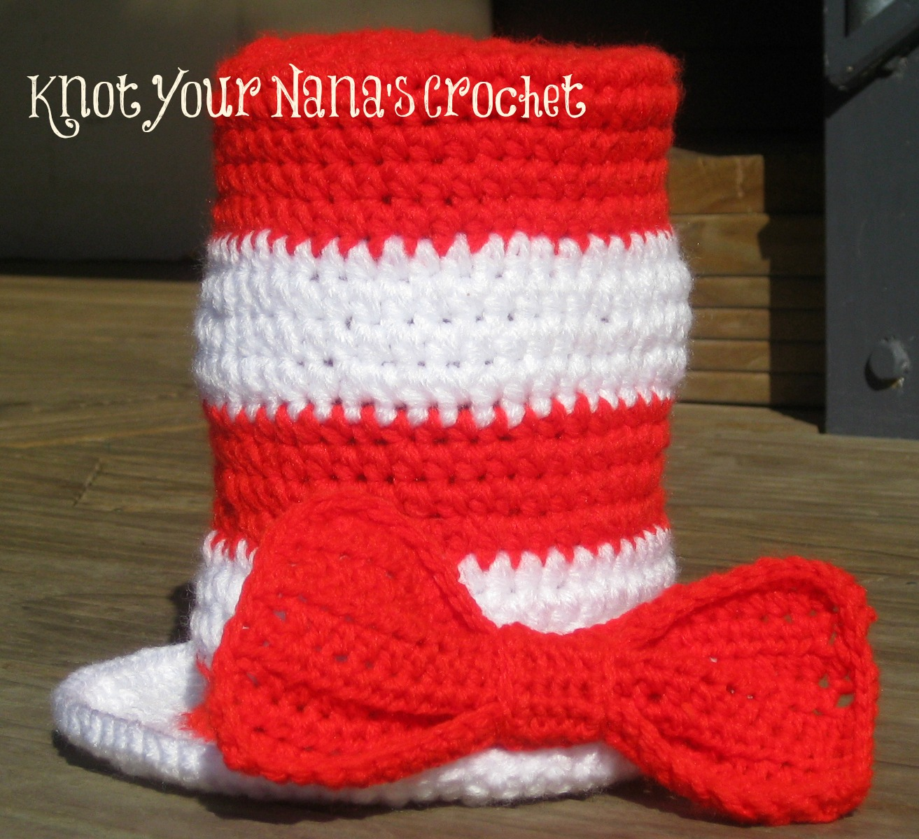 Free Crochet Pattern For Top Hat : Knot Your Nanas Crochet: Top Hat with Bow Tie