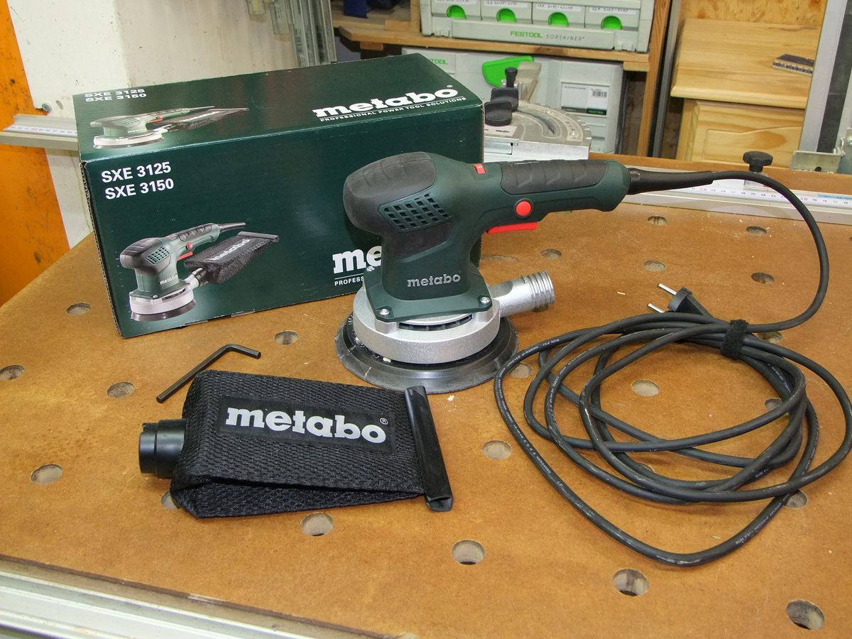 michas holzblog: werkzeugvorstellung: metabo sxe 3150 exzenterschleifer.