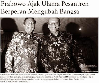 Prabowo Ajak Ulama Pesantren Berperan Mengubah Bangsa