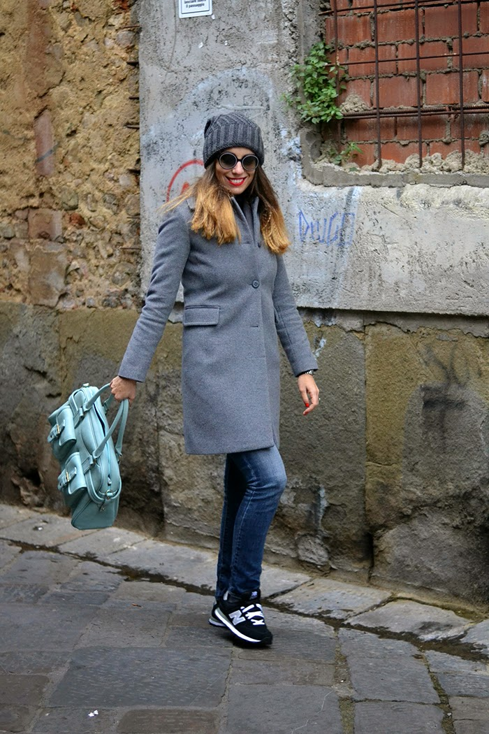 outfit invernale toni grigio