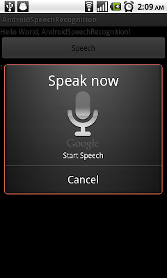 Android 的語音識別(Speech Recognition)功能
