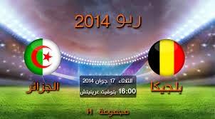 الجزائر بلجيكا كأس العالم 2014