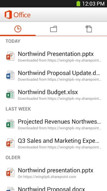 aplikasi Microsoft Office Mobile