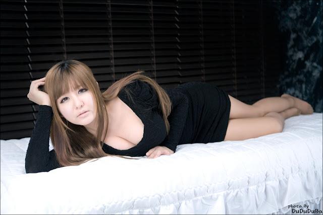 1 Ryu Ji Hye in Black-very cute asian girl-girlcute4u.blogspot.com
