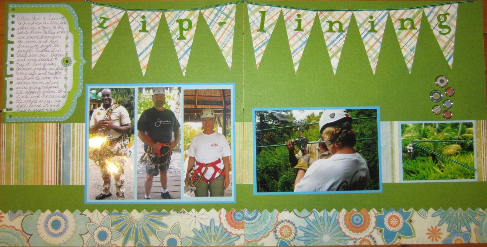 Ziplining scrapbook ideas - Jeanne And Jim Went Zip Lining In Jamaica