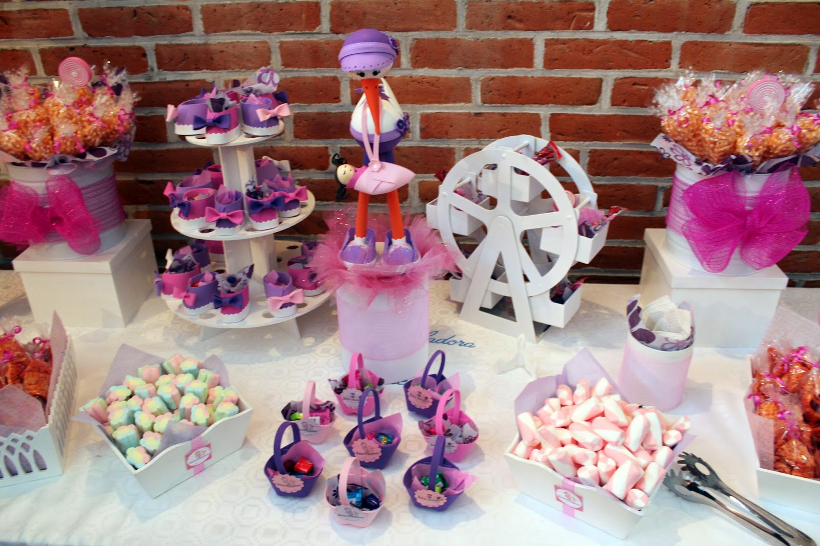 Dulces y eventos mesa de dulces babyshower for Mesa dulce para baby shower