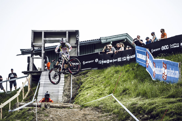2015 Leogang UCI World Cup Downhill: Claudio Caluori's Track Preview with Greg Minnaar