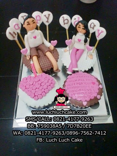 Cupcake Anniversary Couple Daerah Surabaya - Sidoarjo