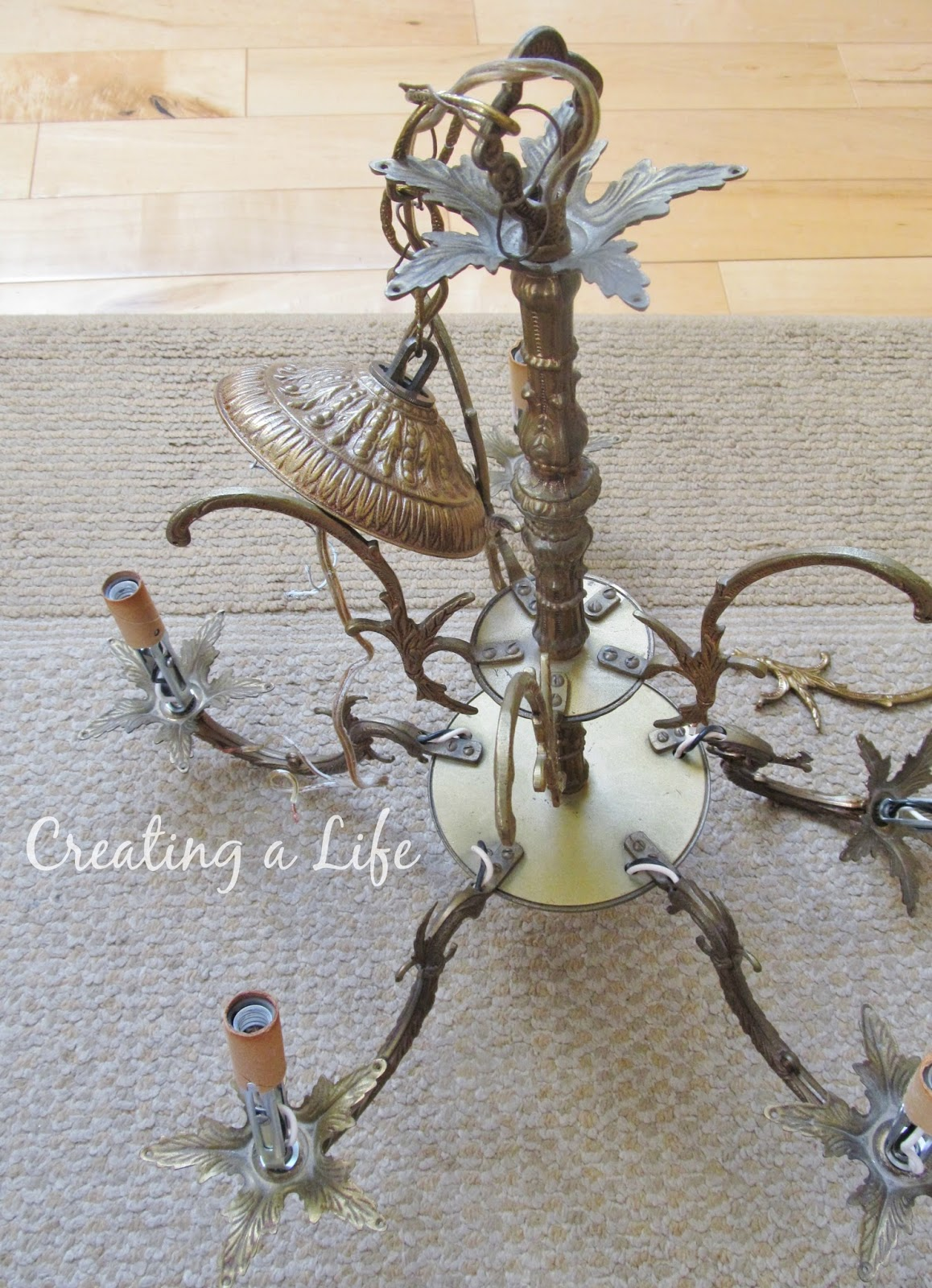 Creating a life vintage chandelier help this christmas my brother gave me another vintage chandelier arubaitofo Images