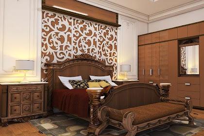 Jasa Desain Kamar Tidur Klasik Mewah Menarik