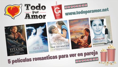 Las películas románticas que no puedes dejar de compartir en pareja