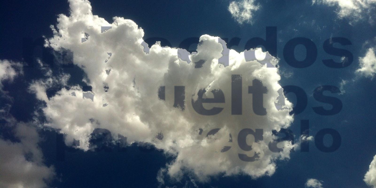 La nube que me trae el título de la novela, 2014 Abbé Nozal