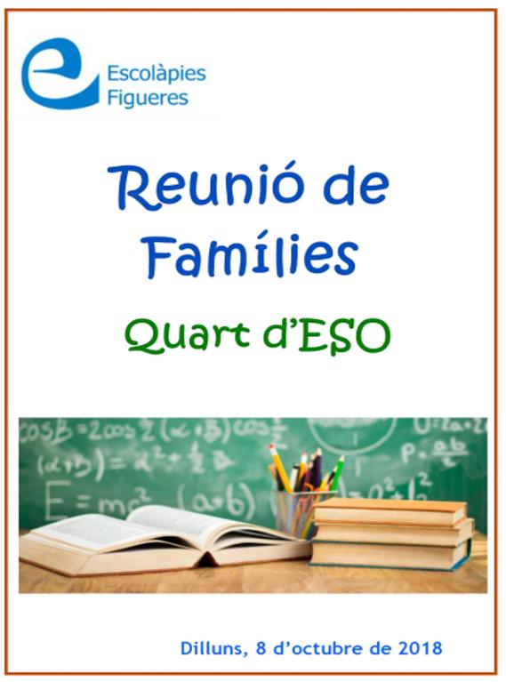 Llibret reunió de famílies