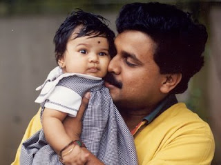 Dileep with daughter